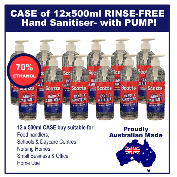 12 x 500 ml Bulk Buy Hand Sanitiser